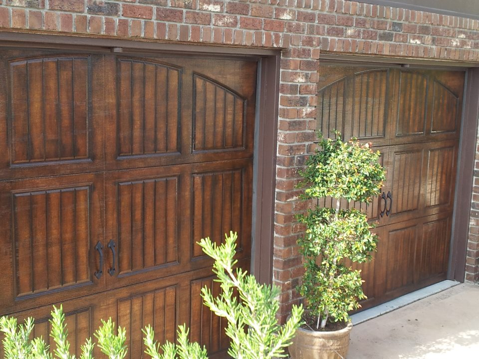 Faux garage doors for Wood looking garage doors