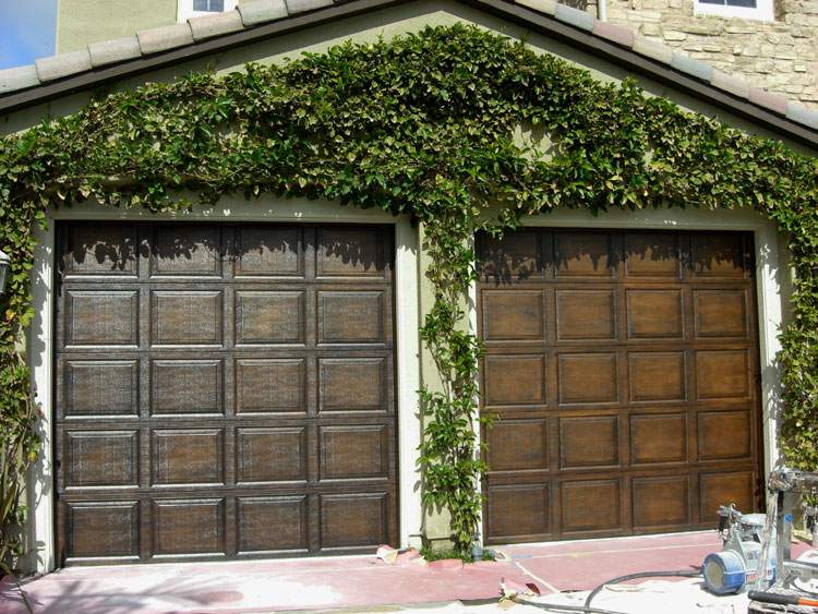 Faux garage doors for Faux wood front doors