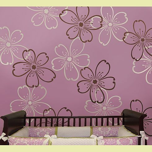Alfa img Showing Flower Stencils for Wall Painting