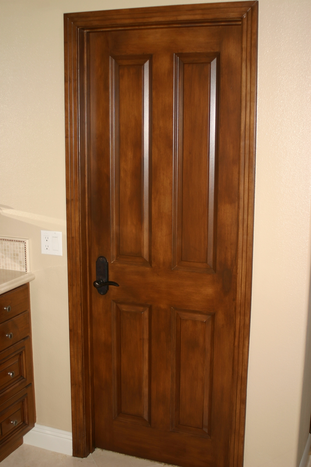 Doors standard interior door before same door fauxed to beautiful wood tones planetlyrics Image collections