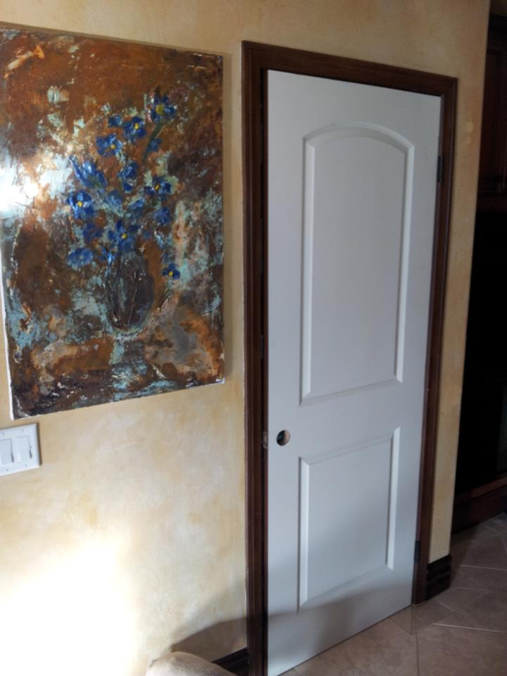 Good The Picture Before Faux Doors, Below Are The Grained Faux Wood Doors