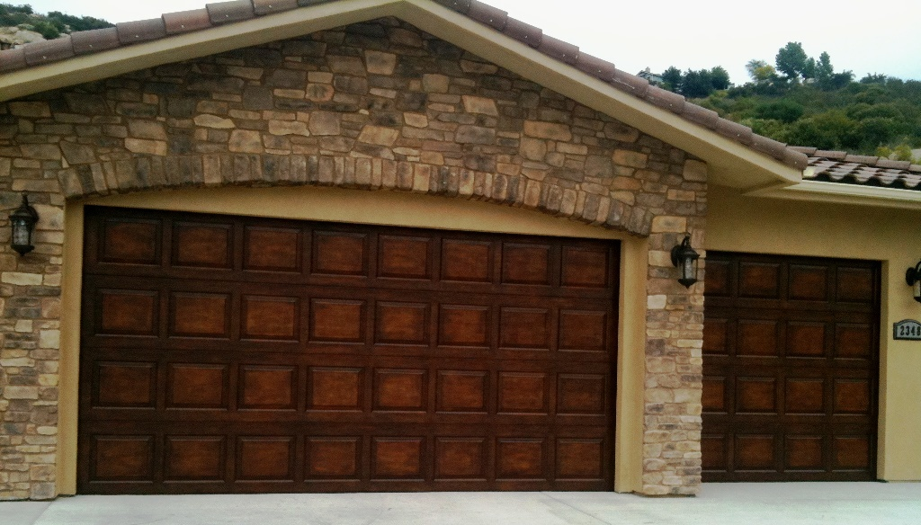 Home depot garages price packages Garage door faux wood