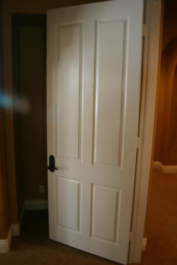Standard Interior Door Before, Same Door Fauxed To Beautiful Wood Tones.  The Picture Before Faux Doors ...